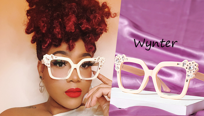 Prescription Eyeglasses For Women With Rhinestones