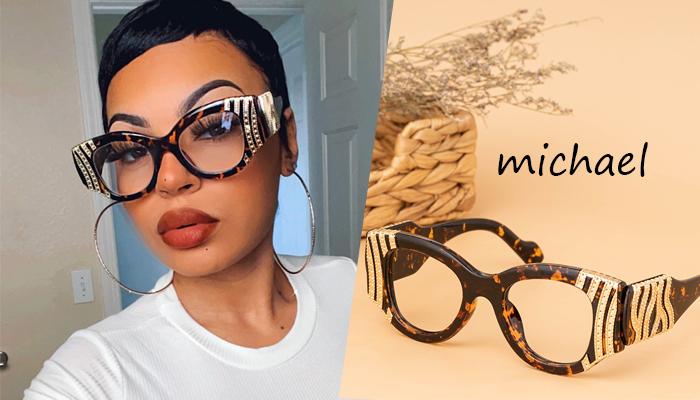 Vogue Tortoise Shell Glasses With Rhinestones