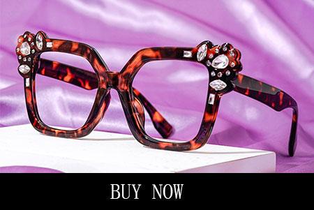 Rhinestone Cat Eye Glasses