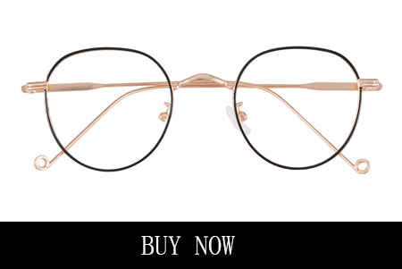 Oval Eyeglasses For Women Black And Gold Frame