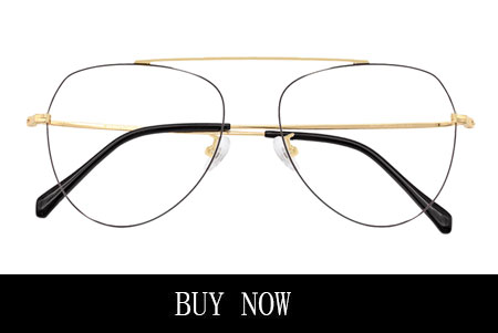 Black And Gold Aviator Eyeglasses