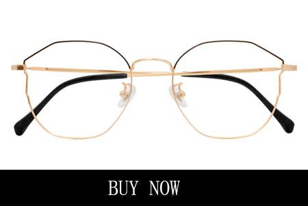 Horn-Rimmed Eyeglasses For Women Black And Gold Frame