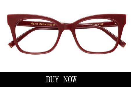 Red Cat-Eye Glasses for Oval Face Shape