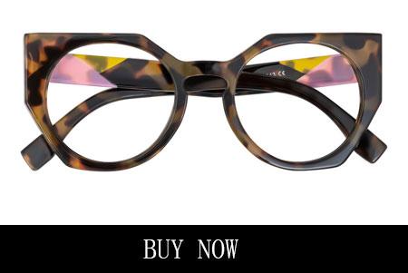 Tortoise Cat-Eye Glasses for Oval Face Shape