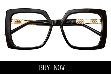 Black Square Vintage Retro Big Large Eyeglasses