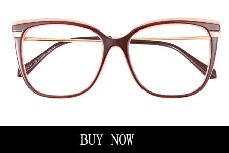 Red Large Square Eyeglasses for Men