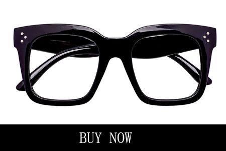 Black Big Frame Square Eyeglasses for Women