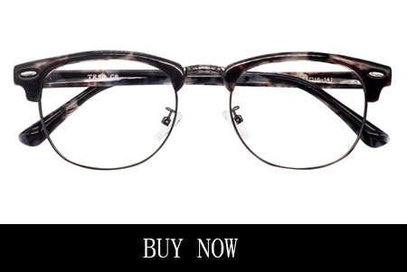 Men's Wire Rim Tortoise Eyeglasses with Nose Pads