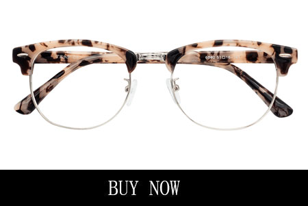 Men's Wire Rim Opal Tortoise Eyeglasses with Nose Pads
