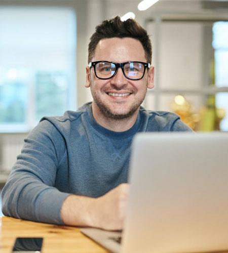 Men's Oversized Black Frame Glasses