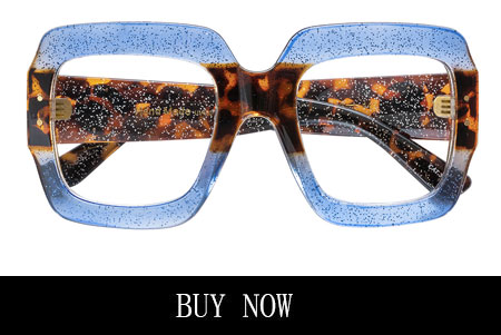 Blue Leopard Print Eyeglasses