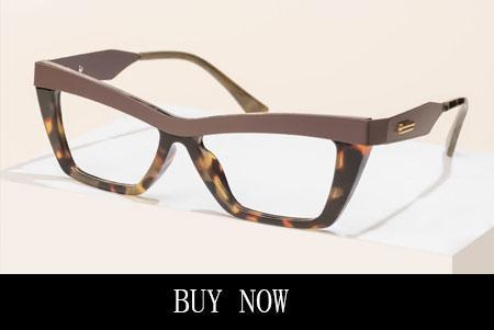 Tortoise Rectangle Glasses Frames With Slight Cateye