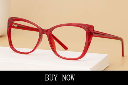 Red Rectangle Glasses Frames With Slight Cateye