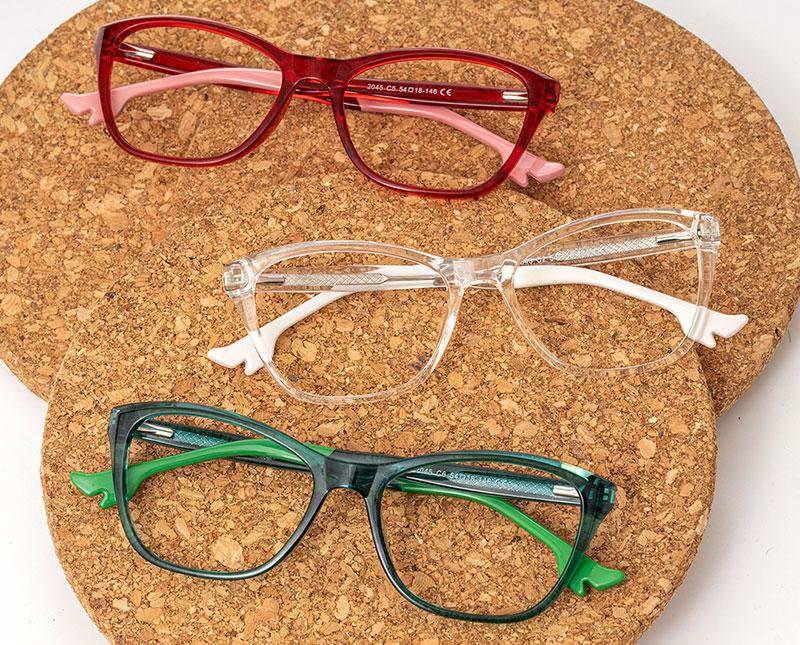Light Colored Rectangle Glasses Frames