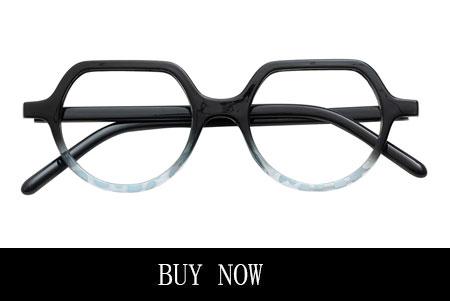 Funky Blue Geometric Glasses